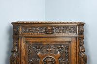 Antique Carved Oak Green Man Corner Cabinet (2 of 7)