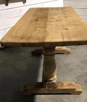 French Bleached Oak Farmhouse Dining Table (4 of 10)