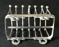Aesthetic Movement Silver Plated 7 Bar Toast Rack (4 of 6)
