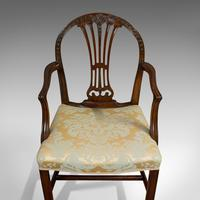 Pair of Antique Hepplewhite Revival Carvers, Mahogany, Armchair, Victorian (5 of 12)