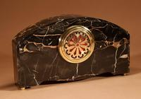 Art Deco Marble Clock Garniture French c.1940 (5 of 9)