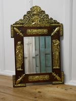 Large Napoleon III French Brass and Fruitwood Mirror (6 of 7)