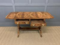 Good Burr Walnut Sofa Table c.1900 (14 of 19)