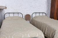 Lovely Simple Pair of Utilitarian Single Iron Beds (7 of 8)
