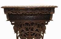 Antique Burmese Work Box - Desk Writing Table 1890 Hardwood (11 of 13)