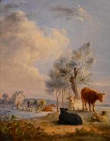 """Oil Painting by Edmund Bristow """"Pastoral View"""" (2 of 3)"""