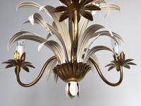 Vintage French 3 Arm Petite Toleware Ceiling Light Chandelier (2 of 11)
