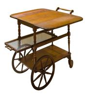 Vintage Mahogany Tea Trolley with Drop Down Flaps (2 of 7)