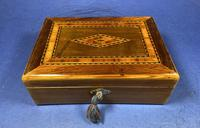 Victorian Rosewood Box With Inlay. (12 of 12)
