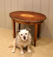 Low Inlaid Oval Table (9 of 9)