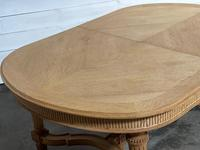 Huge Bleached Oak French Extending Dining Table (20 of 24)