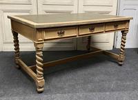 Large Oak 6 Drawer Writing Table (13 of 16)