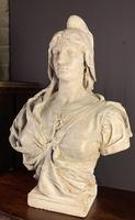 Substantial Size French Plaster Bust Marianne - Liberty (8 of 12)