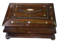 Victorian Rosewood Jewellery / Sewing Box (4 of 8)