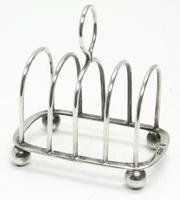 English Antique Solid Silver Toast Rack, Super Design Fresh & Clean c.1921 (4 of 4)