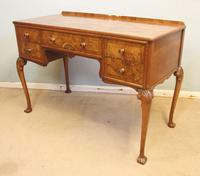 Quality Burr Walnut Side Table Writing Desk (5 of 14)