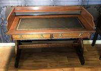 Victorian Gothic Oak Desk (2 of 8)