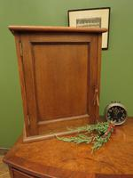 Small Antique Oak Cabinet, Medical Medicine Cabinet with Internal Drawers & Key (2 of 13)