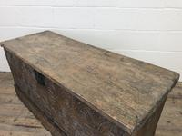 Antique Carved Oak Coffer or Blanket Box (9 of 11)