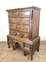 18th Century Antique Oak Chest on Stand (8 of 9)