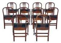 Set of 10 (8+2) mahogany dining chairs 19th Century (10 of 11)
