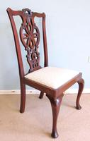 Antique Set of Six Antique Mahogany Chippendale Style Dining Chairs (7 of 9)