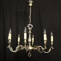 French Silver Plated 8 Light Chandelier (9 of 10)