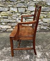 Antique Country Oak Armchair (10 of 14)