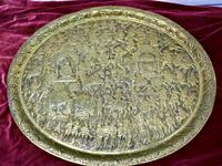 Large Oval Asian Brass Wall Hanging Marriage Charger (6 of 15)