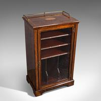 Antique Music Cabinet, English, Rosewood, Display Case, Victorian c.1900 (7 of 12)