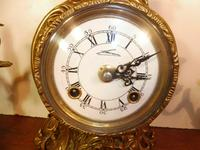 Lancini Franz Hermle clock with candelabras garnitures exactly like Imperial range (3 of 6)