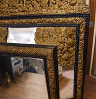 Antique French Cushion Mirror Metal Mounts Circa 1880 (6 of 11)