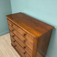 Tall Victorian Mahogany Antique Chest of Drawers (5 of 6)
