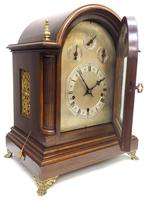 Mahogany & Bevelled Glass W&H Mantel Clock Dual Chiming Musical Bracket Clock Chiming on 9 Coiled Gongs (5 of 17)