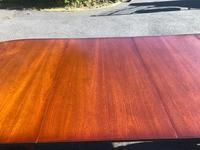 Quality Mahogany Twill Pillar Extending Dining Table (8 of 15)