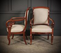 Pair of French Mahogany Empire Chairs (8 of 13)