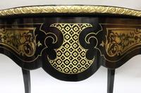 French Napoleon III Ebony and Inlaid Bureau Plat by Millet (7 of 11)