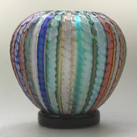 Museum Quality Very Fine Gino Cenedese Murano Vetri Textured Vase - Mid 20th Century (6 of 11)
