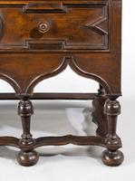 Rare William and Mary Period Solid Walnut Chest on Stand (4 of 6)