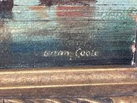 Seascape Oil Painting First Rate Man O War Ships Portsmouth Harbour Signed Brian Coole (10 of 39)