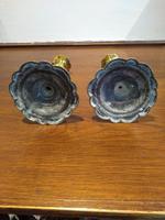 Pair of Georgian Brass Petal Based Candlesticks (2 of 3)