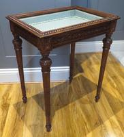 Superb Hand Carved Solid Mahogany Bijouterie Vitrine (2 of 9)