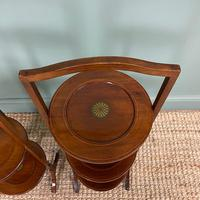 Unusual Pair of Antique Mahogany Folding Cake Stands (5 of 5)