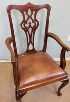 Antique Mahogany Georgian Style Desk Chair (5 of 7)