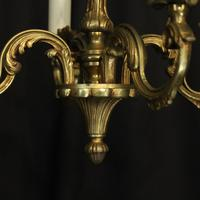 French Gilded Brass 4 Light Antique Chandelier (4 of 6)
