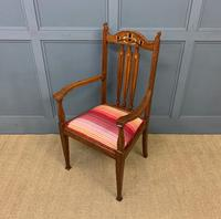 Arts & Crafts Inlaid Armchair (9 of 9)
