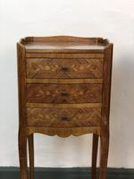 French Marquetry Kingwood Bedside Tables Rustic Distressed (6 of 13)