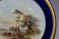Royal Worcester Dish 1914 - Hand-painted Lowland Cattle by John Stinton, (5 of 9)