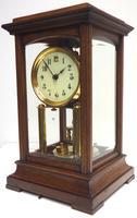 Rare Gustav Becker 400-day Torsion Clock German Mantel Clock Mahogany & Bevelled Glass Case (3 of 13)