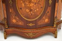 Antique French Inlaid Marquetry  Marble Top Cabinet (5 of 12)